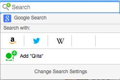 Qiita search on Firefox
