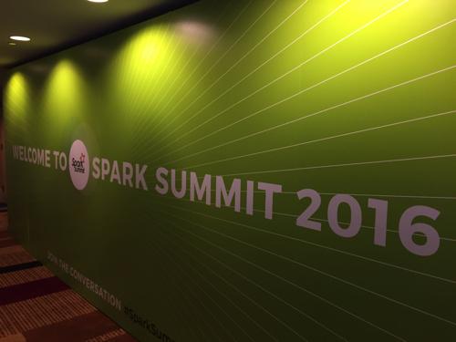 Spark Summit 2016に参加してきました