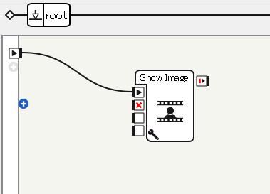 Show Imageボックスの配置と接続