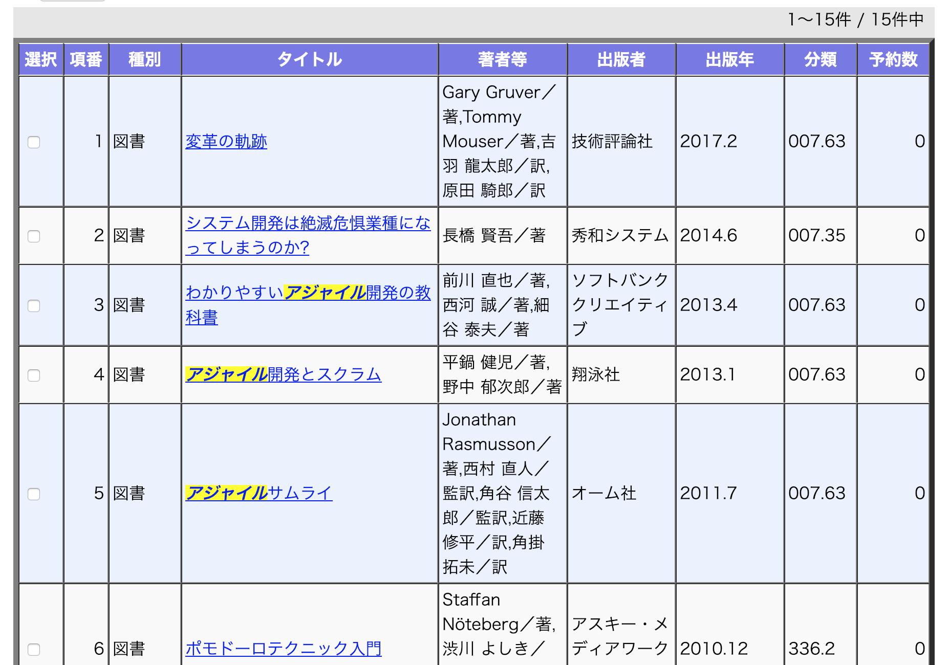 静岡市図書館予約システム