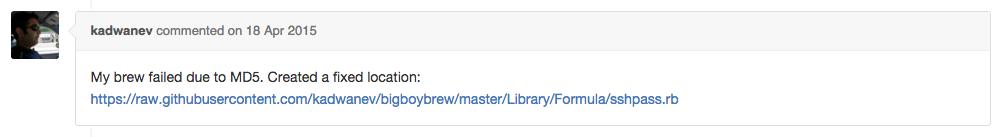 brew_install_sshpassのエラー解消