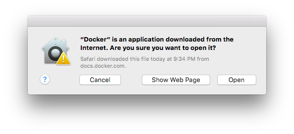 インターネットからダウンロードしたソフトウェアを開く際の警告