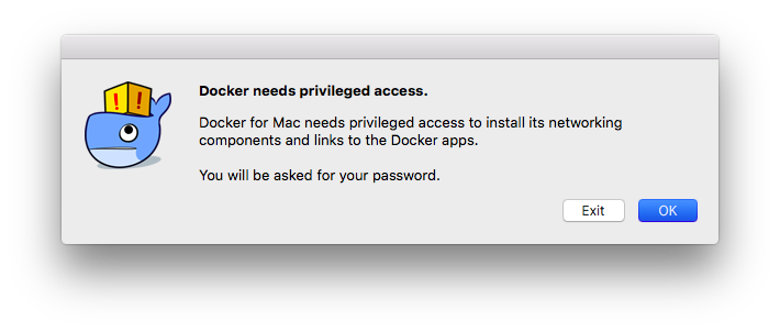 Docker needs privileged access