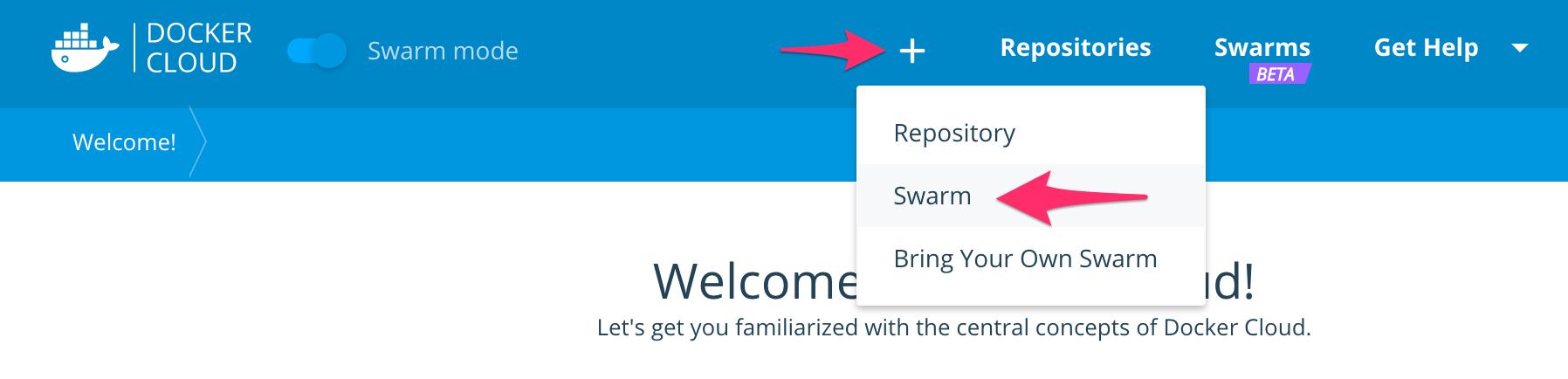 Swarm クラスタ新規作成