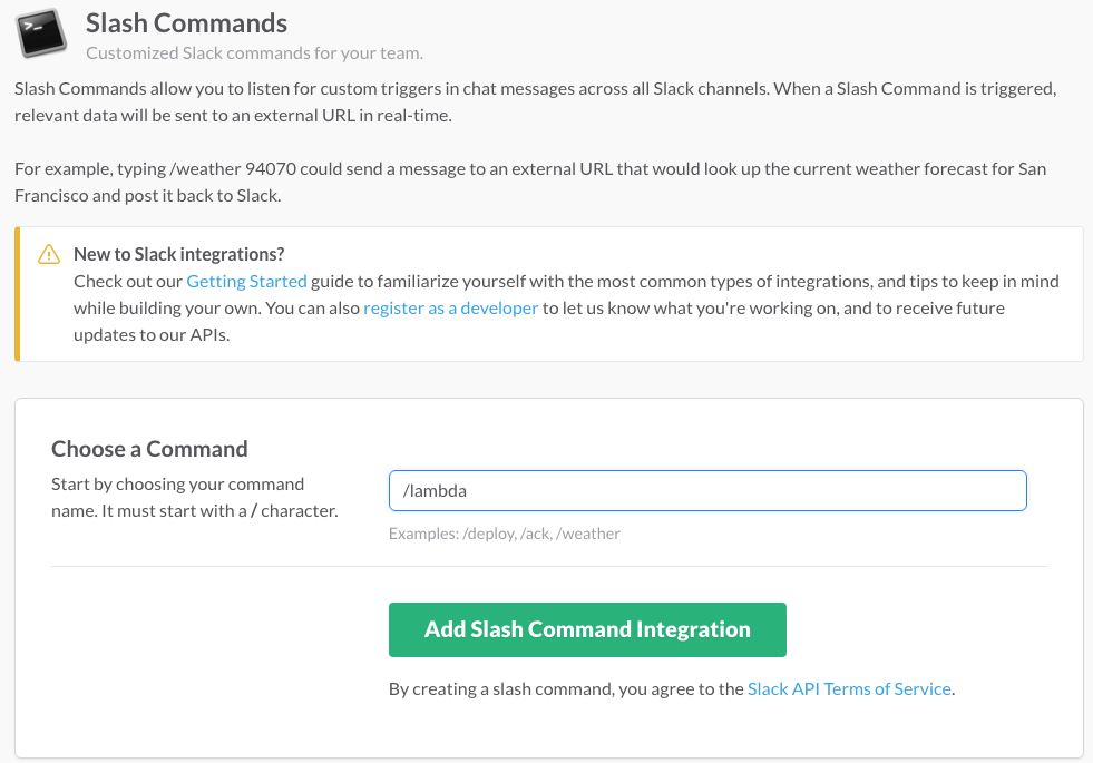how to get slack integration token