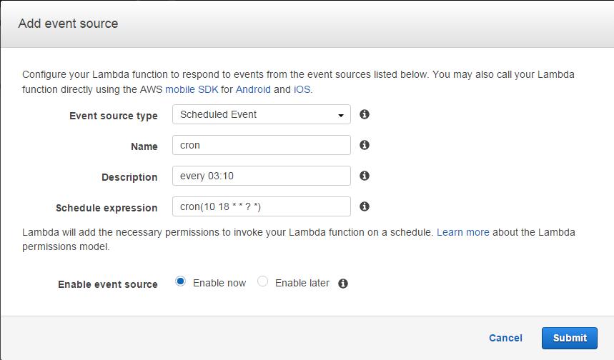 Add event source