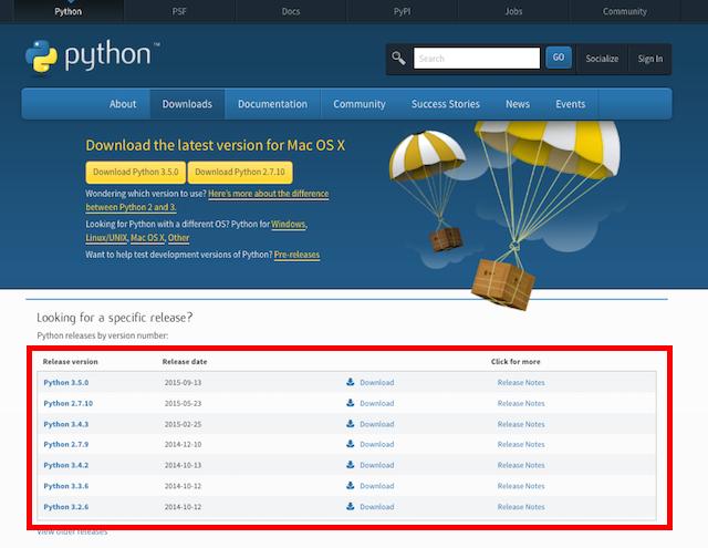 Python.org site